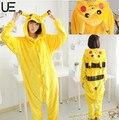 2017 Pokemon Pikachu Animal Hoodie Sleepwear Pajamas Adult Yellow Unisex Pikachu Onesie Costume Pikachu Pajamas