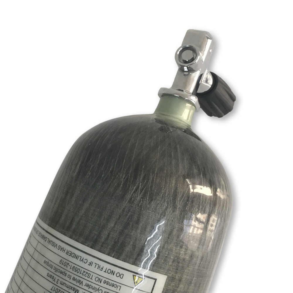 Acecare الغوص اسطوانة hpa/خزان الألوان 30mpa اسطوانة pcp الكربون مادة الألياف 6.8L CE مع نير صمام m18 * 1.5 ل scba