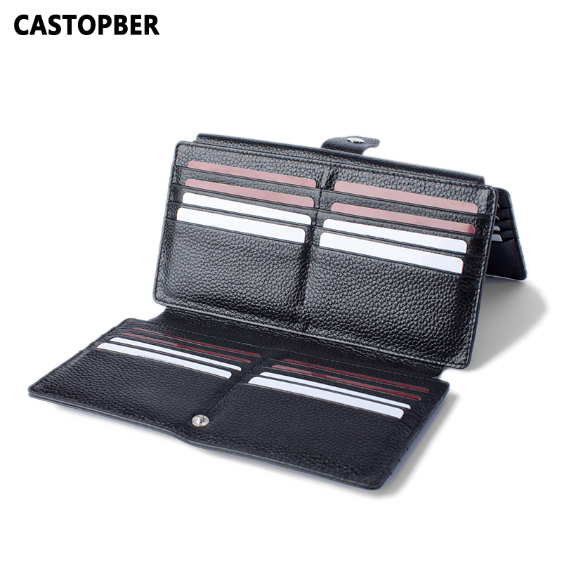 New Arrival Men's ID Holders Business Credit Card Holder Cow Genuine Leather 3 Fold 48 Card Slots High Quality Large Capacity 2018 new fashion unisex credit card holders genuine leather multi pvc card slots metal hasp business card id holders cow leather