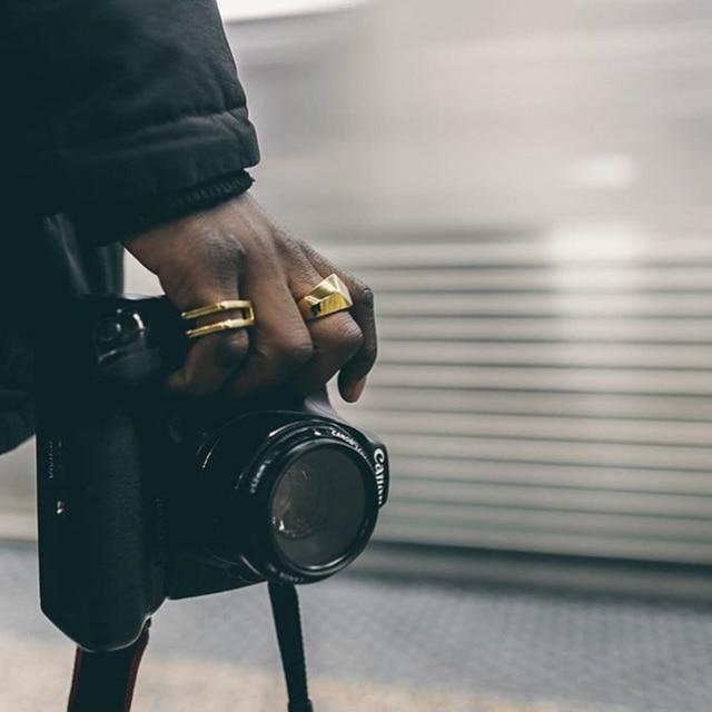 VITALY Brand Square Titanium Steel Ring Men Minimalism Simple Antique Silver Mens Fashion Finger Hip Hop Ring Women Men Jewelry