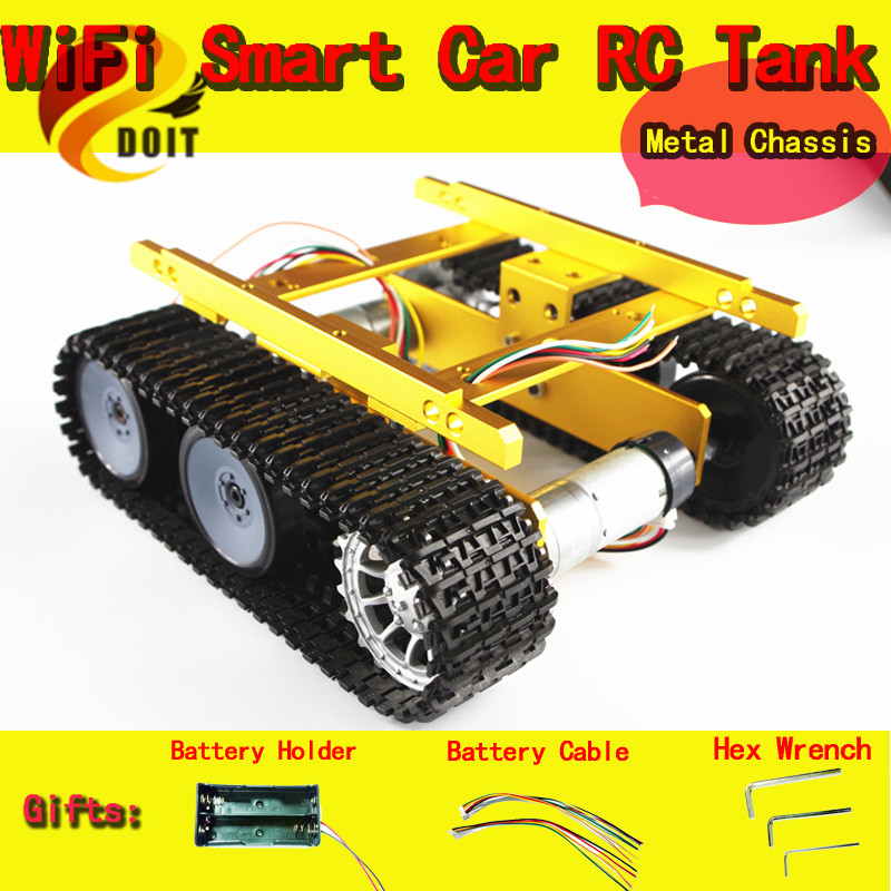 Official DOIT Speed Sensors Tank Chassis/Creeper Truck/Tracked Smart Car/High Torque Motors and Hall Sensor/Robot Part for DIY new 1 pcs children baby solar power energy insect grasshopper cricket kids toy gift solar novelty funny toys