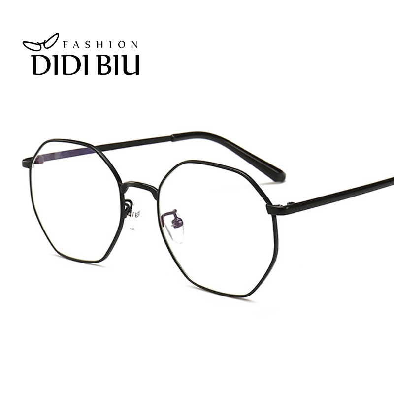 Vintage Polygon Glasses Computer Anti Blue Ray Thin Metal Glasses Optical Myopia Eyewear Frame Trend Decoration Lunette WN1141