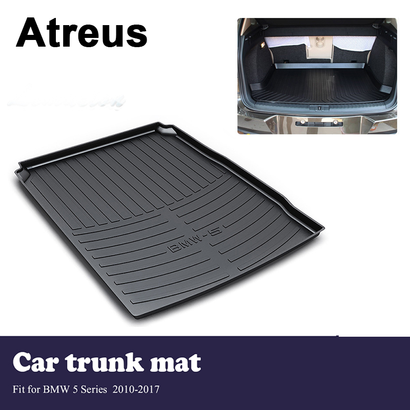 Atreus Car Trunk Cargo Floor Liner Tray Mat Cover Protection Blanket For BMW 5 Series F10 F11 F07 2010-2017 Accessories custom fit car trunk mat for bmw 5 series e60 e61 f07 f10 f11 518d 520d 523d 525d 528d 530d 535d 540d tail box floor tray liner