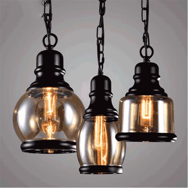 Vintage Loft Fashion Handmade Iron Glass Hemp Rope Led E27 Pendant Light for Dining Room Restaurant Bar AC 80-265V 1398 цена и фото