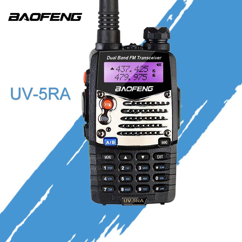 (1 Pcs)Baofeng UV5RA Ham Two Way Radio Dual-Band 136-174/400-520 MHz BaoFeng UUV-5RA Walkie Talkie Radio Transceiver Black
