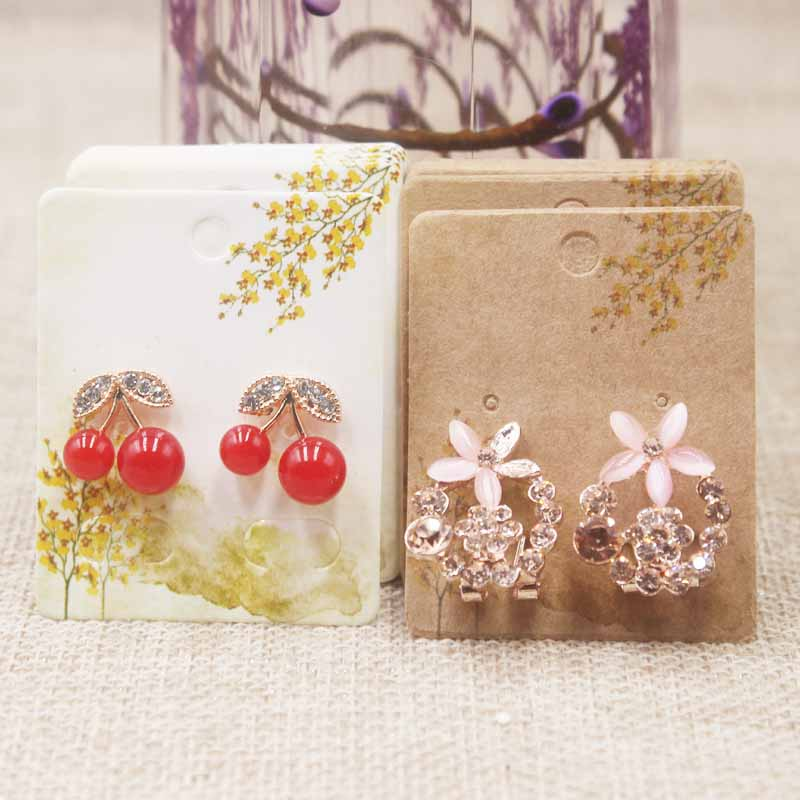 Zerong Flower Pattern 50Pcs Earrings Package Cards Various Styles 5*4cm Jewelry Display Earring Card Dreamcatcher Earring Cards
