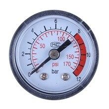 0-12BAR 0-170PSI 10 мм резьба газовый воздушный насос Манометр Компрессор барометр измерение атмосферного давления