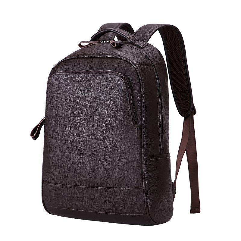 New Brand 100% Genuine Leather Men Backpacks Fashion Real Natural Leather Student Backpack Boy Luxury Design Computer Laptop Bag