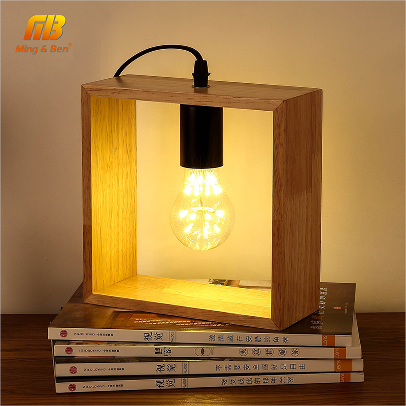 Art Decoration Desk Lamp Vintage Solid Wood Table Lamps Bedside Wooden Lighting for Living Room Bedside Bedroom Reading Lighting tuda glass shell table lamps creative fashion simple desk lamp hotel room living room study bedroom bedside lamp indoor lighting