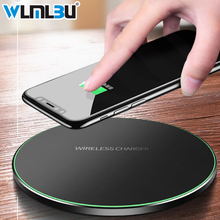 WLMLBU 10W Qi Wireless Charger for iPhone X/8 Visible Fast Wireless Charging pad for Samsung S9/S9+ S8 Note 9 9+ 8 Xiaomi Huawei home bluetooth speaker qi wireless charger pad music surround speaker nillkin cozy mc1 for iphone x 8 for samsung s9 for xiaomi