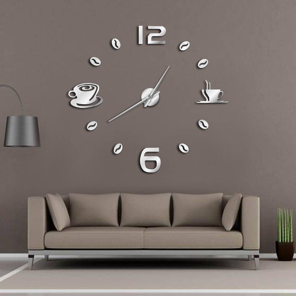 Da parete, moderno orologio da parete silenzioso per casa ufficio cucina (25cm,. Intimate Soul Offerte Cafe Fai Da Te Orologio Da Parete Di Grandi Dimensioni Senza Cornice Gigante Design Moderno Tazza Caffe Chicco Della Decorazione Cucina Economici Prezzo Online