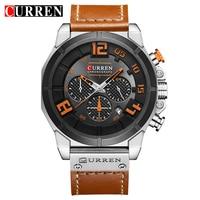CURREN 8287 Men S Quartz Watches 2017 New Fashion Casual Military Relogio Masculino Watch Men Leather