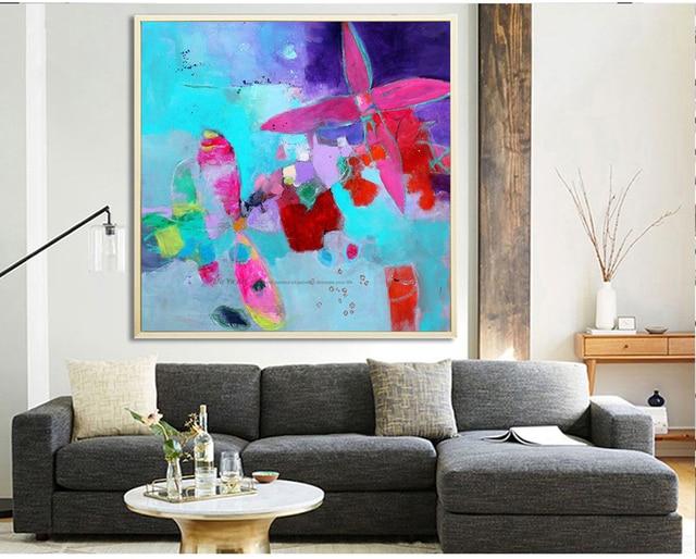 Abstract foto bloem canvas art goedkope moderne schilderijen acryl