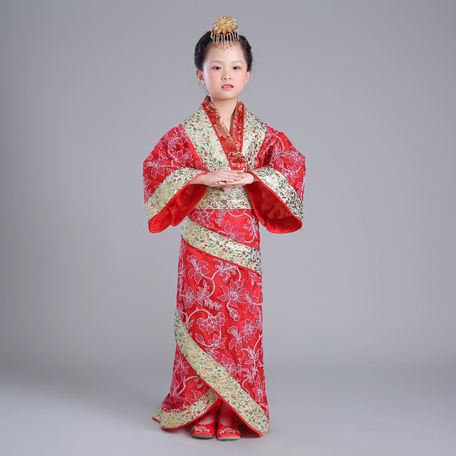 59fb7d18971a Children Tail Hanfu Costume Royal Princess Chinese Traditional Dress ...