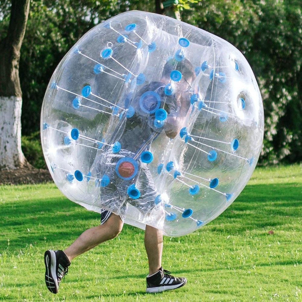 100% z tworzywa TPU pęcherzyków powietrza piłka nożna Zorb piłka 1 M 1.2 M 1.5 M 1.7 M powietrza kula bumper dla dorosłych nadmuchiwane Bubble piłka nożna, zorb piłkę. w Piłki do zabawy od Zabawki i hobby na  Grupa 3