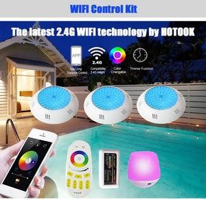 Image 3 - Hotook 水中ライト wifi led プールライト rgb 2.4 グラムキット樹脂充填に foco PAR56 piscina ランプタイマー調光アプリ制御