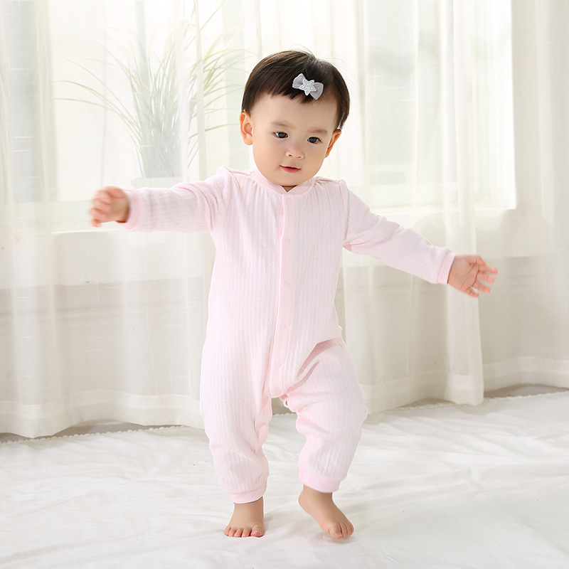 Spring and autumn new cotton jumper full dress jumpsuit baby jumpsuit