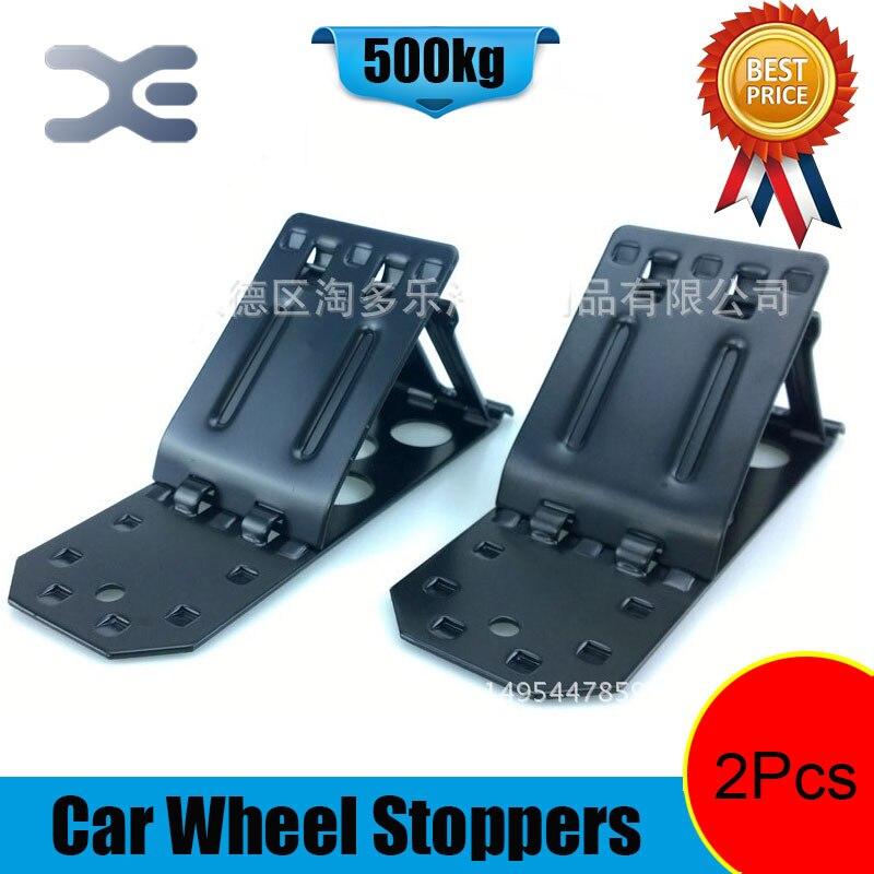 Metal Car Wheel Stoppers Tire Repair Auto Tyre Trim Removal Tool Car Repairing Tool Pack of 2