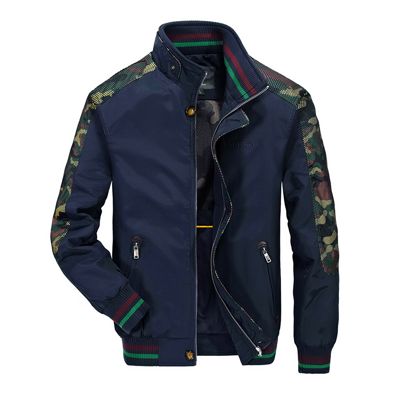 Fashion ZHAN DI JI PU bomber jacket jaqueta masculino stand collar camouflage jacket coat brand windproof veste hommes IN6839