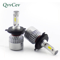 QvvCev H4 LED H11 H8 9006 HB4 H1 H3 HB3 COB H7 LED Car Headlight 72W