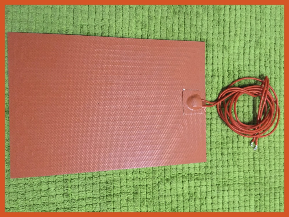 300x150mm 200W 220V Silicone Heater mat Heating Element heating plate Electric pad For Paraffin drying hot