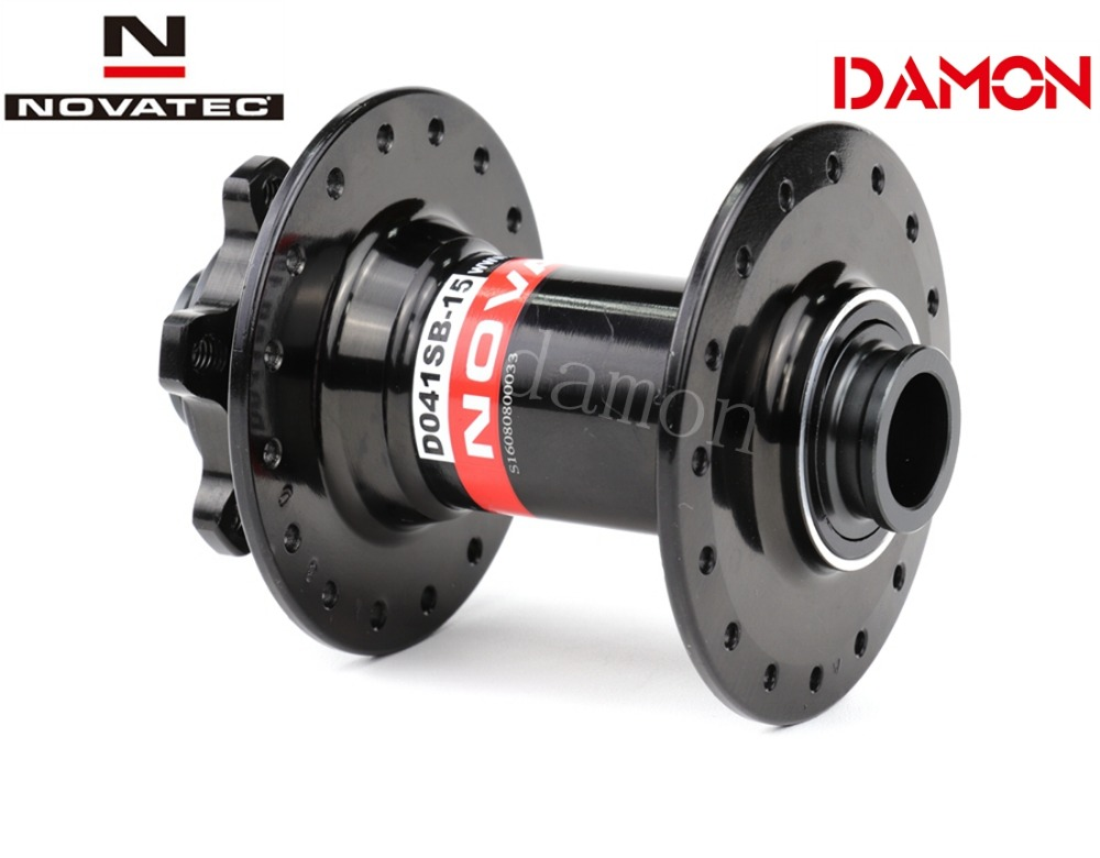 Image 4 - Novatec D041SB B15 D041SB 15 MTB Bike Disc Brake 32 36 Holes 15*110mm 15*100mm 2 Bearings Mountain Bicycle Boost Front Hub-in Bicycle Hubs from Sports & Entertainment