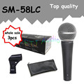 3pcs wholesale Top quality SM 58LC Free shipping vocal Karaoke microfone dynamic wired handheld microphone SM 58