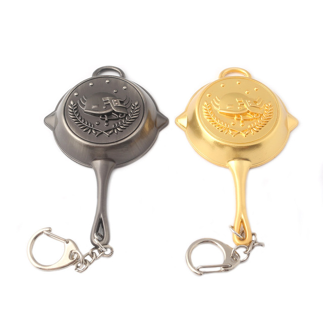 8593a1d37f 2018 Newest PUBG Frying Pan Keychain Hot Game Playerunknown's Battlegrounds  Key Chain Car Keyring For Women