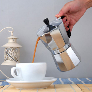 Image 5 - 50/150/300/450/600ML alüminyum Percolator kahve makinesi Pot açık sofra ev ofis üreticisi açık sofra