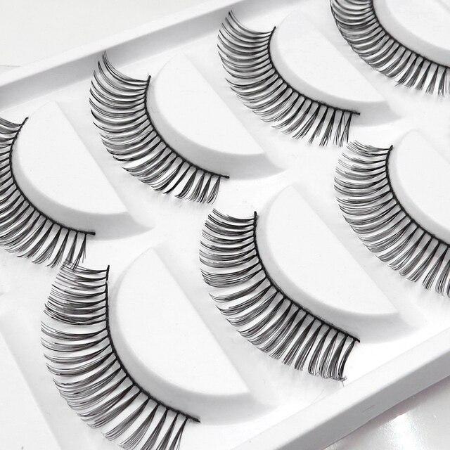 OMYLADY 5 Pairs False Eyelashes natural long eyelashes curl wispy 12mm Beauty Makeup Tool Thick Fake 3D Mink eyelashes maquiagem
