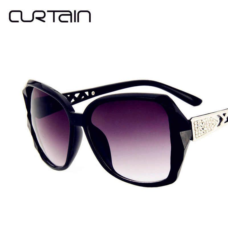 Занавес оверсайз Роскошные Овальные Солнцезащитные очки женские 2019 модные брендовые дизайнерские мужские высококачественные солнцезащитные очки для женщин тени УФ 400