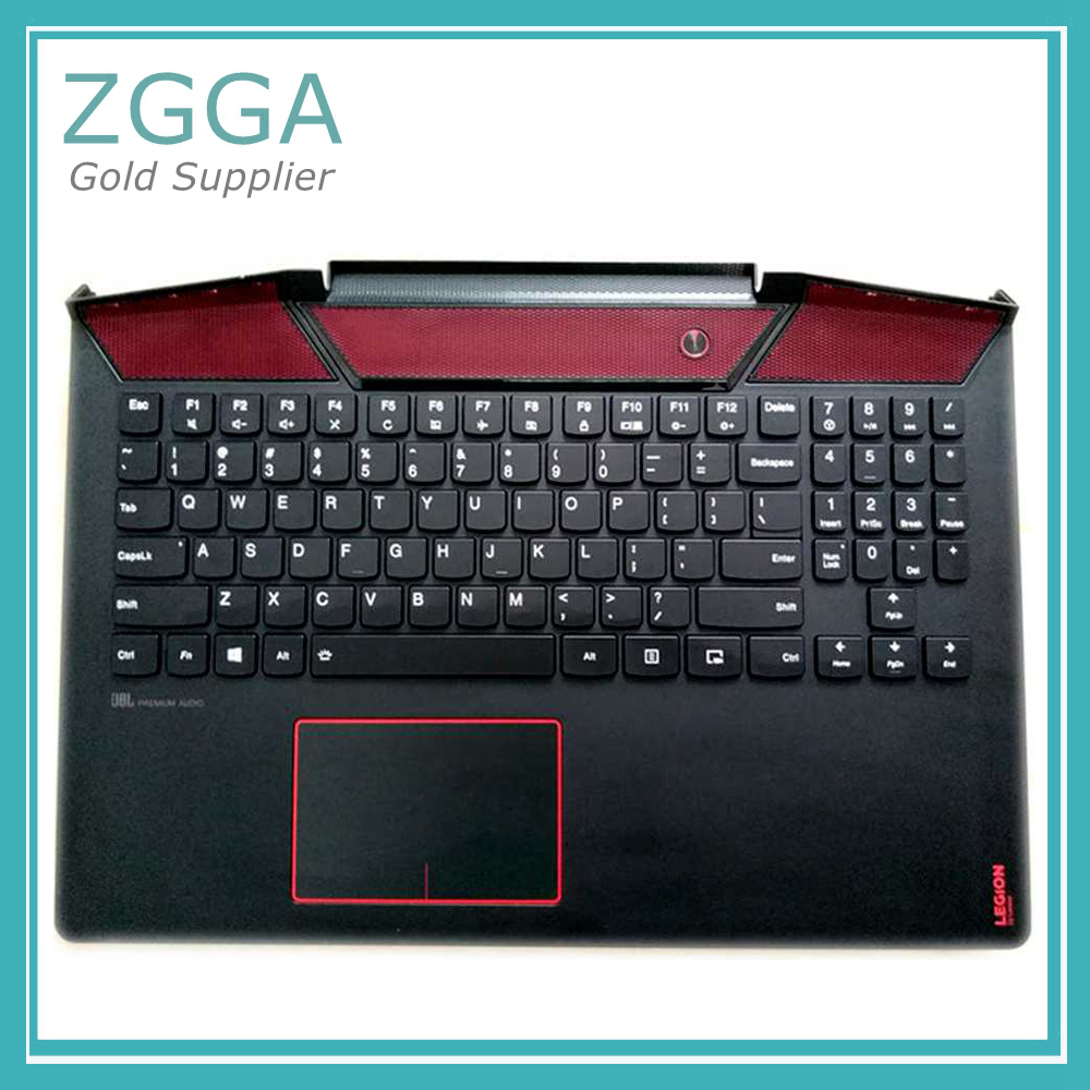 Ori New For Lenovo Legion Y720 Y720-15 Y720-15IKB Empty Palmrest Cover Upper Case KB Bezel With US Keyboard Touchpad White RedOri New For Lenovo Legion Y720 Y720-15 Y720-15IKB Empty Palmrest Cover Upper Case KB Bezel With US Keyboard Touchpad White Red