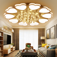 Surface Mounted Crystal Modern Led Ceiling Lights For Living Room Luminaria Led Bedroom Fixtures Indoor Home