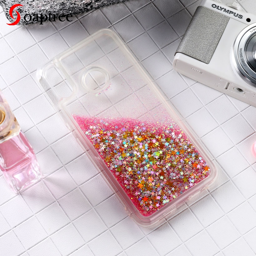 Glitter Liquid Cases For Huawei P9 <font><b>Lite</b></font> Mini <font><b>P</b></font> Smart 2018 Case For Huawei P20 P30 Mate 10 20 20X <font><b>30</b></font> <font><b>Lite</b></font> Plus Y6 Pro 2017 Z Case image