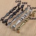 """96mm preto prata modern furniture handle 5 """"bronze preto cobre antigo armário de cozinha dresser gaveta porta pull handle Retro"""