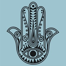 Free shipping the hamsa hand wall decal sticker , Vinyl Wall Decal Muslim House Protection Housewares Decor Sticker
