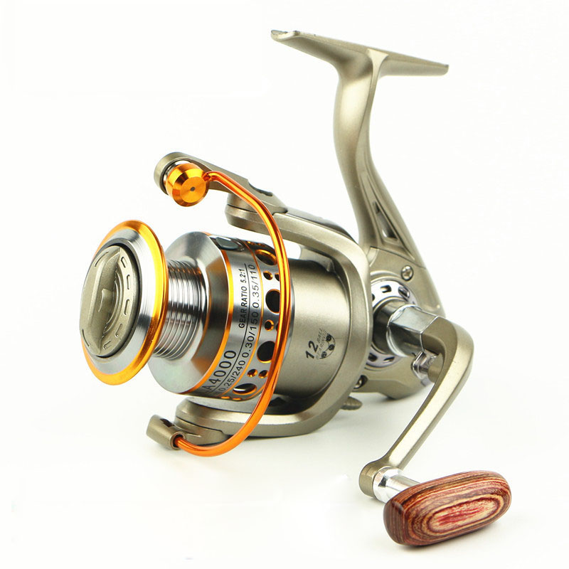 12BB 5.2: 1 Spinning Fishing Reel Vissen Pesca Carrete Spinnning Reel Feeder Carp Metal Line Cup Vissen Wiel 2000-7000 LC