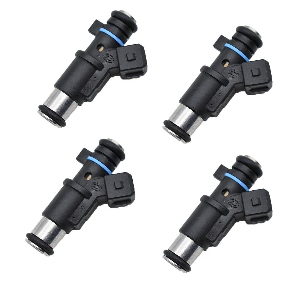 4 Uds gasolina del inyector de combustible 1984E0 01F002A 0280156357, 348001 para Peugeot 106, 206 de 306 socio 01F002A/Citroen Berlingo C2
