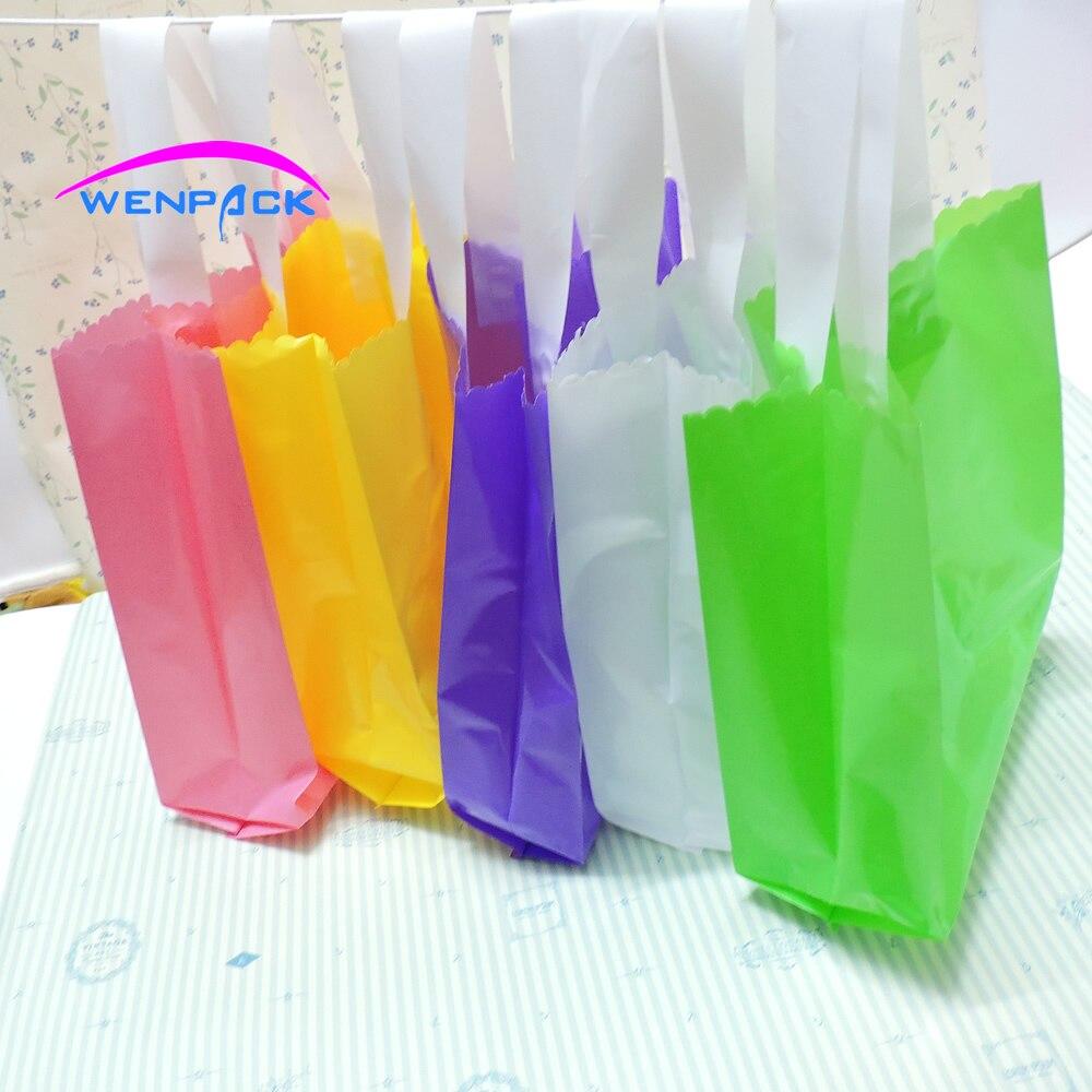 Пользовательские логотипом подарок полиэтиленовый пакет/Индивидуальные ручки сумки и упаковка сумка
