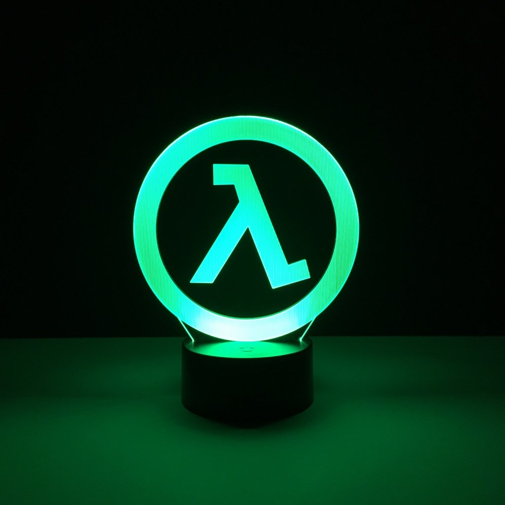 Child Led Nighlight Half Life Logo Night Light For Boys Bedroom Decorative Light Kids Best Birthday Gift Led Night Lamp Dropship
