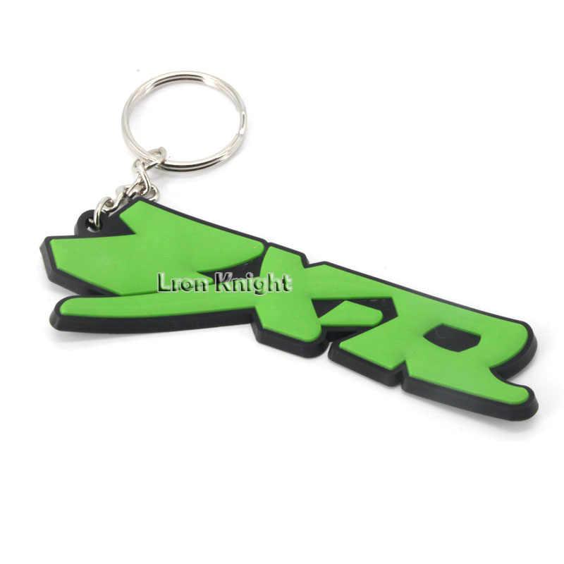 Для KAWASAKI ZX-14 ZX14 ZX-R zxzx6r zxzx9r ZX-9R аксессуары для мотоциклов модные резиновые брелки брелок