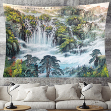 Natural scenery tapestry wall hanging waterfall scenic forest Wall Cloth Tapestry landscape wall art farmhouse wall decor Home island beach scenic wall art decor tapestry