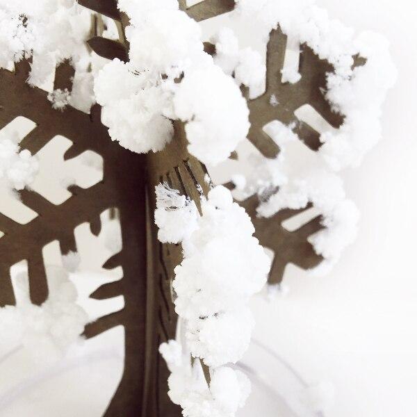 2017 12x8 cm Caliente Blanco Mágico Árbol de Copo de nieve de Papel - Nuevos juguetes y juegos - foto 3