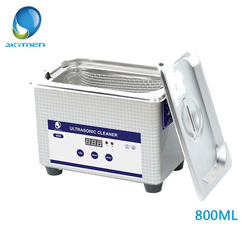 Ultrasonic Cleaner 800ML Household Sonic Bath For Dental Watch Jewelry With Metal Basket Free Shipping