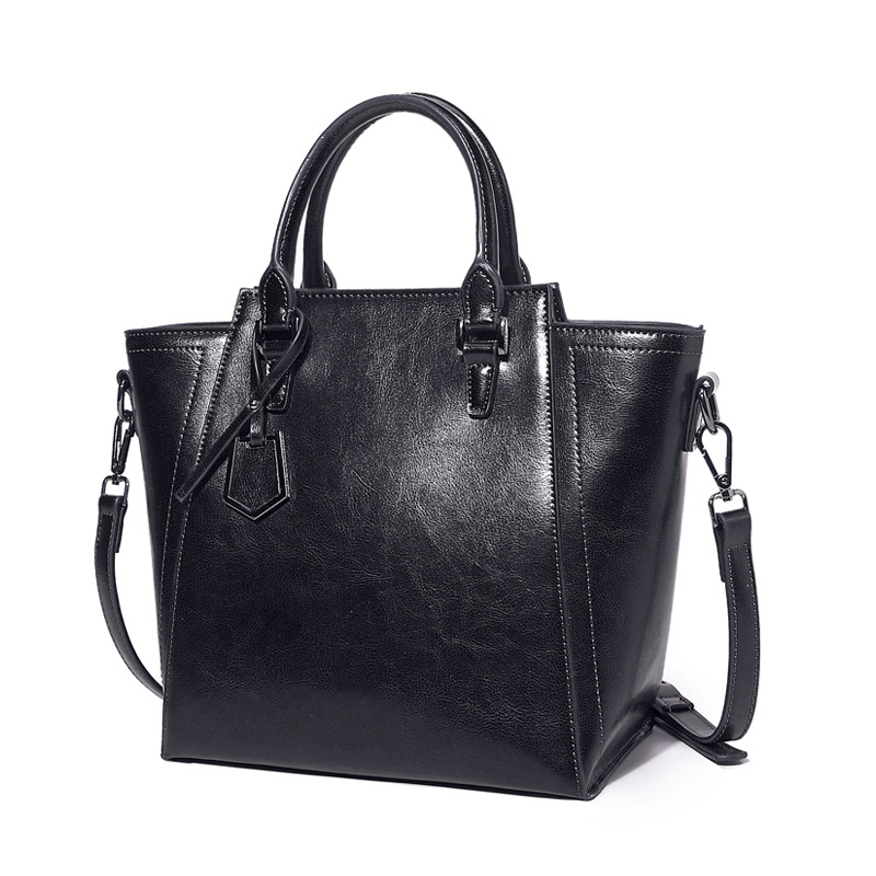 women handbag genuine leather tote bag female classic Oil Wax Cowhide Leather shoulder bags ladies handbags messenger bag C347 brand women handbag genuine leather tote bag female classic crocodile pattern prints shoulder bags ladies handbags messenger bag