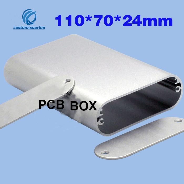 1PC DIY Aluminum Case Electronic Project PCB BOX 110*70*24MM Instrument Case