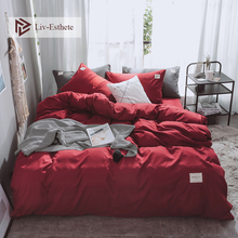 Liv-Esthete R Luxury Bedding Set Home Duvet Cover Flat Sheet Single Double Queen King For Adult Bed Linen Bedspread As Gift