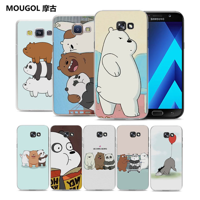 innovative design 3cbb9 f54ae US $2.99 |MOUGOL we bare bears clear transparent hard Phone Case Case for  Samsung Galaxy A5 2017 A7 A8 A3 A5 2016-in Half-wrapped Case from  Cellphones ...
