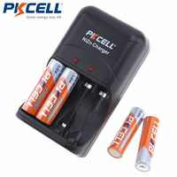 1 sztuk PKCELL 8186 Ni-Zn AA/ładowarka do baterii AAA + 4 sztuk/karty 1.6 V Bateria baterie AA 2500mWh ni-zn akumulator