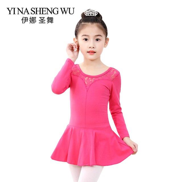 bc8aeb0f53f2 Aliexpress.com   Buy New Children Dance Practice Clothes Cotton Long ...